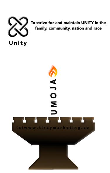 Kinara with Umoja candle and description